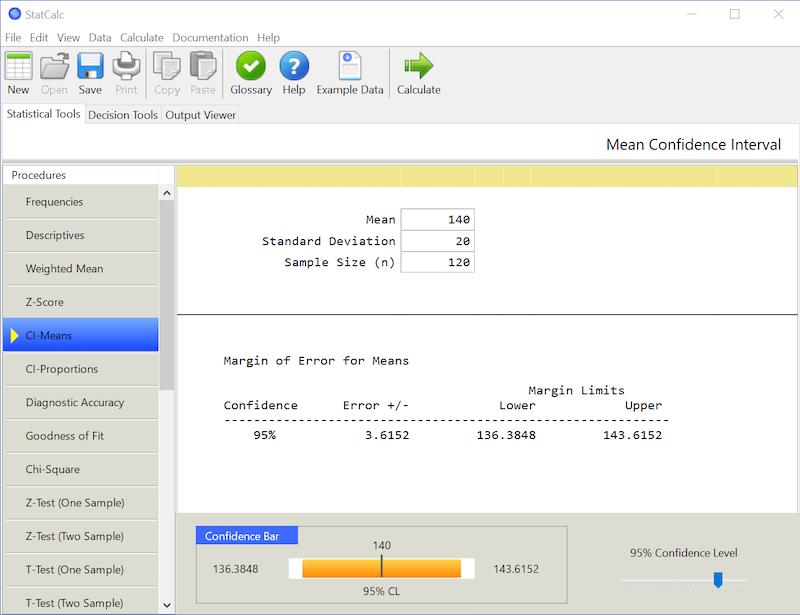StatCalc Win screenshot